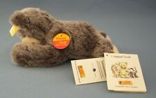 """Steiff Floppy Bar Bear #082160 Grey Teddy Button In Ear 8"""" Collectible New W/Tag"""