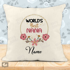 Personalised World's Best NANA Cushion Cover Pillow Case Home Decor Room Gift