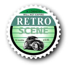Novelty Retro Tax Disc Motif & Koolart Chrysler PT Cruiser image Car sticker
