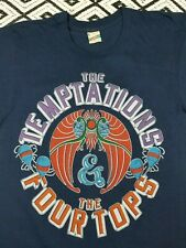 1984 The Temptations + Four Tops Vintage soul r&b concert tour shirt Screen Star