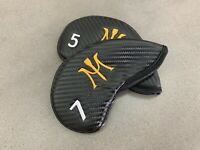 MIURA GOLF IRON HEADCOVERS BLACK CARBON MAGNETIC 3 TO P AND 3 WEDGES.