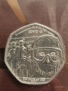 Gibraltar 2020 50 Pence Coin We Unite As One Sealed pack Uncirculated