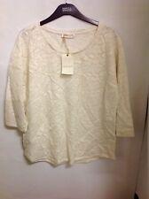 Indigo Collection Cotton Rich Lace Top Size: 18