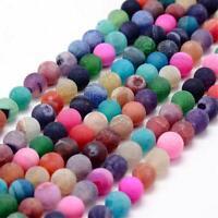 Achat Edelstein Perlen 8mm Rund Gemstone Beads Bunte Mix Set R148