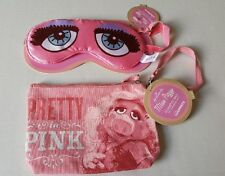 Miss Piggy Pretty In Pink Cosmetic Bag AND Beauty Sleep Mask By Hallmark Disney