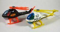 Vintage Corgi Batman Bat Copter & Police Helicopter Diecast Toy D7