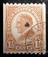 Beautiful 1923 1929 Perforated 10 Horiz 1 1/2c Harding Stamp Scott# 605 J245