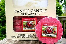 """Box Lot of 24 Yankee Candle """"RED RASPBERRY"""" Fruit Scented Tarts Wax Melts"""
