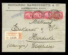 Egipto registrado 1912 Riccardo Sanguinetti sobre para Westfalia