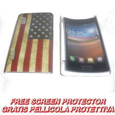 Pellicola + custodia BACK COVER USA BANDIERA VINTAGE per LG Optimus L5 E610 (H9)