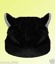 BLACK CAT ANIME KITTY GOTH RAVE COSPLAY CAP HAT Big for Adults