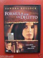 sandra bullock formula per un delitto murder by numbers DVD2002 Snapper Z8-23305