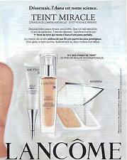PUBLICITE ADVERTISING 2011 LANCOME teint miracle,'AURA est notre science  070412
