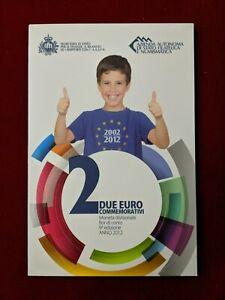 Saint-Marin Coffret Officiel BU 2€ Euros 2012 10 ans de l'euro