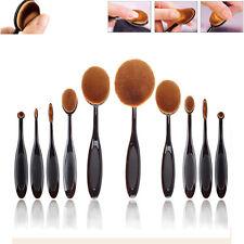 10Pcs Vander Toothbrush Beauty Shaped Oval Cream Puff Makeup Brushe Set Kit gift