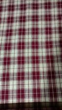 Vintage Homespun Fabric Red By The Yard