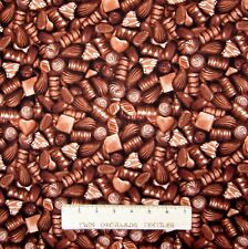 Food Fabric - Packed Chocolate Candy Brown - Northcott Yard