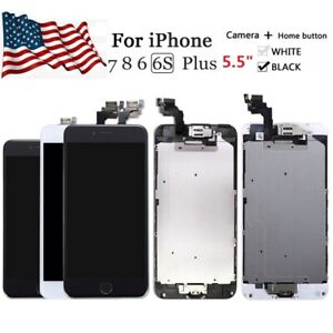 """LCD Screen Digitizer Assembly Replacement Part For iPhone 6s 6 7 8 Plus 5.5"""" LOT"""