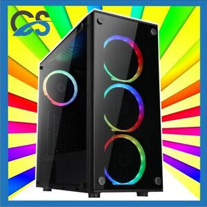 Aquilo Gaming PC Computer Intel i5 11600K 2TB HDD 480GB SSD 32GB RAM 6GB GTX1660