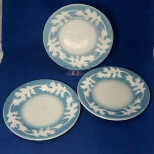 3 Vintage Oakleigh Oak Leaf Syracuse China Restaurant Ware Small Plates