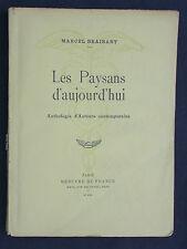 Les paysans d'aujourd'hui de Marcel Braibant - Anthologie d'auteurs 1940 métier
