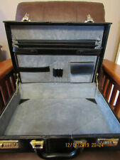 Briefcase Black Vinyl Covered Briefcase Attache Case Combo Lock