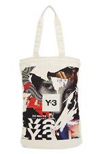 Y-3 Yohji Yamamoto CH1 Graphic Tote Shopper Bag, Cream Off White, F/W 2020 NWT