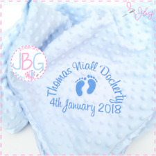 Personalised Baby Boys Bubble Blanket,Luxury Embroidered Blanket,New Baby Gift