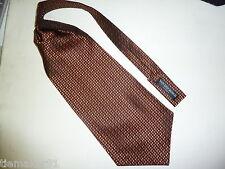 Ascot corbata bufanda de seda pura terracota-beige con dibujos NEU