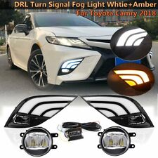 For Toyota Camry SE XSE 2018 2019 LED DRL Daytime Running Turn Signal Fog Light