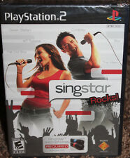 PLAYSTATION 2 new SINGSTAR ROCKS! ps2 FACTORY SEALED rated e10+ GAME