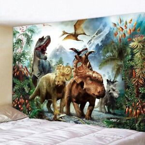 DINOSAUR TAPESTRY WALL HANGING HIPPIE BOHEMIAN ANIMAL PRINTED TAPESTRY DECORATIO
