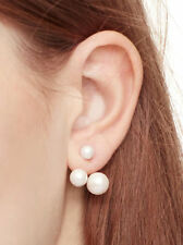 KATE SPADE Pearl Dainty Sparklers Double Bauble Ear Jackets w/ Dust Bag