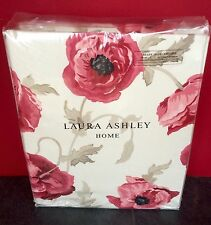 "Laura Ashley Curtains Freshford Cranberry 88"" X 72 / 223cm x 183 Red Huge Poppy"