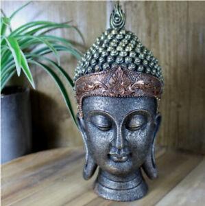 Buddha Head Ornament Statue Figurine Gift Home Decor