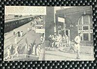 NORTH PLATE NEBRASKA NEBR POSTCARD WW II CANTEEN UNION PACIFIC RAILROAD STATION