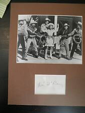 """SIGNED 11 x 14 inch Display of Western Star  Don """"Red"""" Barry"""