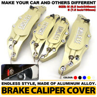 4 Gold ENDLESS Brake Caliper Cover Metal Style Disc Universal Car Front Rear Kit