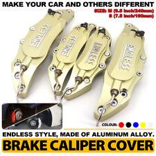 4 Gold ENDLESS Brake Caliper Cover Metal Style Disc Universal Car Front Rear Kit