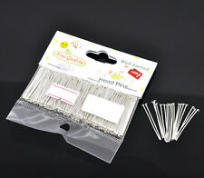 "1 Packet(300PCs) Well Sorted Silver Plated Head Pins 3cm(1-1/8"") SP0594"
