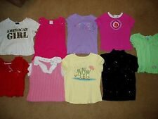 """""""GIRLS, lot of 9, SHORT SLEEVE SHIRTS"""", size 5/6, so cute and adorable"""