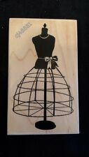 CLASSIC DRESS FORM Rubber Stamp by B Line Designs MANNEQUIN Fashion Hobby Sewing