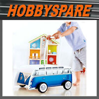 NEW HAPE VOLKSWAGEN VW KOMBI T1 BUS VAN BABY WALKER PUSH CART TOY BLUE 10 Month+