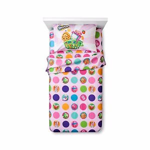 Shopkins Twin Sheet Set Super Soft! Polka Dots BRAND NEW