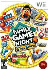 Family Game Night 4: The Game Show (Nintendo Wii, 2011) Complete