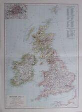 Karte aus 1889 - Britische Inseln - alte Landkarte old map