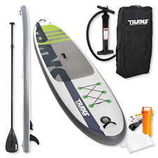 "Trans SUP Premium 10,5"" Stand up Paddle Board Gonfiabile & PAGAIA + bag + POMPA"