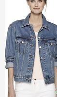 Levi's Women's Ex-Boyfriend Trucker Jacket In Concrete Indigo Size S/M/L