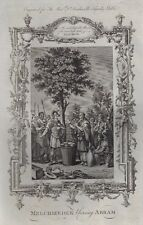 "Dr. Southwell Bible ""MELCHIZEDEK BLESSING ABRAM"" - Copper Engraving - 1775"
