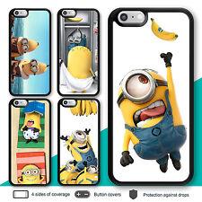 iPhone 7 7 Plus 6s 6 Case Minion Rubber Print Cover for Apple SE 5s 5 5c 4s